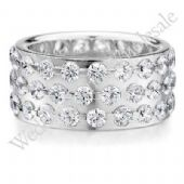14K Gold 9mm Diamond Wedding Bands Rings 0909