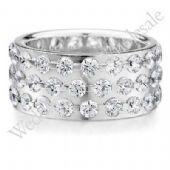 950 Platinum 9mm Diamond Wedding Bands Rings 0909