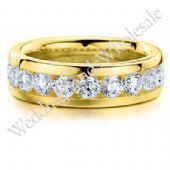 18K Gold 6mm Diamond Wedding Bands Rings 0918