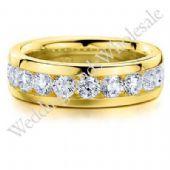 18K Gold 6mm Diamond Wedding Bands Rings 0918