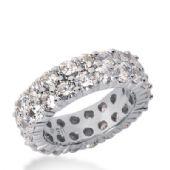 14k Gold Diamond Eternity Wedding Bands, Shared Prong Setting 5.50 ct. DEB1691514K
