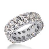 18k Gold Diamond Eternity Wedding Bands, Shared Prong Setting 6.50 ct. DEB1692018K