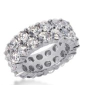 950 Platinum Diamond Eternity Wedding Bands, Shared Prong Setting 8.50 ct. DEB16925PLT