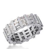 950 Platinum Diamond Eternity Wedding Bands, Bar Setting 5.50 ctw. DEB199PLT
