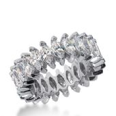 14k Gold Diamond Eternity Wedding Bands, Prong Setting 5.00 ct. DEB20814K