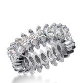 18k Gold Diamond Eternity Wedding Bands, Prong Setting 5.00 ct. DEB20818K