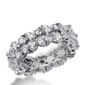 14k Gold Diamond Eternity Wedding Bands, Common Prong Setting 4.50 ct. DEB22514K