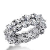 18k Gold Diamond Eternity Wedding Bands, Common Prong Setting 4.50 ct. DEB22518K