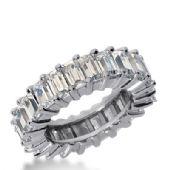 18k Gold Diamond Eternity Wedding Bands, Shared Prong Setting 8.00 ct. DEB24218K
