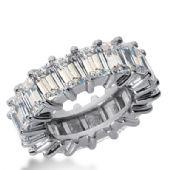 18k Gold Diamond Eternity Wedding Bands, Shared Prong Setting 12.00 ct. DEB24418K