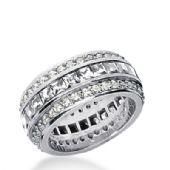 18k Gold Diamond Eternity Wedding Bands, Channel Set 4.00 ct. DEB27318K
