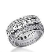 950 Platinum Diamond Eternity Wedding Bands, Channel Set 6.00 ct. DEB274PLT