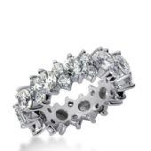 14k Gold Diamond Garland Eternity Wedding Bands, Prong Set 4.50 ct. DEB29214K