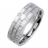 14K Gold Round Brilliant 7mm Comfort Fit Diamond Band 0.32ctw 1167