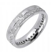 14K Gold Round Brilliant 7mm Comfort Fit Contemporary Diamond Band 1169 (1.32ctw)