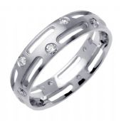 14K Round Brilliant Bezel Set 6mm Comfort Fit Diamond Band 0.48ctw 1184