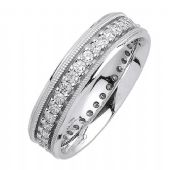 14K Gold Round Brilliant 6mm Comfort Fit Diamond Band 1198 (1.05ctw.)