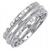 14k Gold Round Brilliant 7mm Comfort Fit Diamond Band 0.48ctw 1235