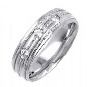 18K Gold Round Brilliant 7mm Comfort Fit Diamond Band 0.24ctw 1215