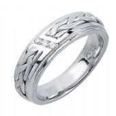 18K Gold 6mm Comfort Fit Contemporary Diamond Band 0.09ctw 1116