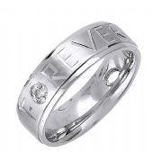 18K Gold 6mm  Comfort Fit Contemporary Diamond Band 0.12ctw 1128