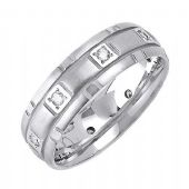 18k Gold 7mm Comfort Fit Contemporary Diamond Band 0.24ctw 1204