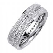 18K Gold Round Brilliant 7mm Comfort Fit Diamond Band 0.40ctw 1164