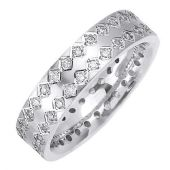 18K Gold Round Brilliant 6mm Comfort Fit Diamond Band 0.60ctw 1165