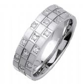 18K Gold Round Brilliant 7mm Comfort Fit Diamond Band 0.32ctw 1167