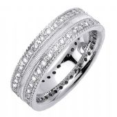 18K Gold Round Brilliant 7mm Comfort Fit Diamond Band 1170 (1.60ctw.)