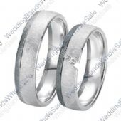 950 Platinum 6mm 0.08ct His and Hers Wedding Rings Set 235