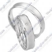 18k White Gold 5mm His & Hers 0.02ctw Diamond Wedding Band Set 247