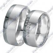950 Platinum 7mm 0.16ct His & Hers Wedding Rings Set 249