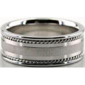 950 Platinum 8mm Handmade Wedding Band Braid Design 031
