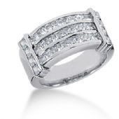 14K Diamond Anniversary White Gold Channel Set Ring (2.62ctw.)