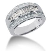 14K Round Brilliant, Baguette Diamond Anniversary Ring (1.41ctw.)
