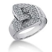 14K White Gold Locked Diamond Anniversary Ring (0.64ctw.)