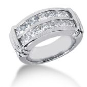 14K Princess Cut Channel Setting Diamond Anniversary Ring (2.38ctw.)