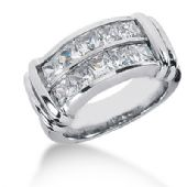 14K Princess Cut Double Channel Diamond Anniversary Ring (2.70ctw.)