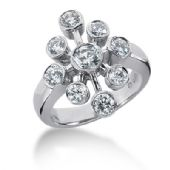 14K Round Brilliant Diamonds Circling Anniversary Ring (1.30ctw.)