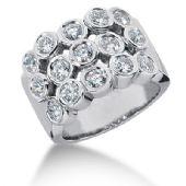 14K Bezel Set Spaced Round Brilliant Diamond Anniversary Ring (1.5ctw.)