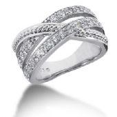 14k Twisted Round Brilliant Diamond Anniversary Ring (0.75ctw.)