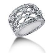 14K Round Brilliant Linked Diamonds Anniversary Ring (0.72ctw.)