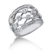 14K Open Spaced Links Round Brilliant Diamond Anniversary Ring (1.34ctw.)
