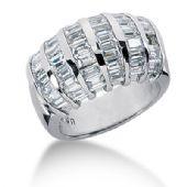 14K Straight Baguette Diamond Anniversary Ring (3.78ctw.)
