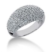 14K Round Brilliant Covered Diamond anniversary Ring (1.79ctw.)