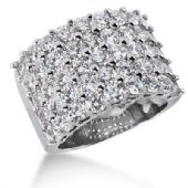 14K Exquisite, 45 Round Brilliant Diamond Anniversary Ring (4.5ctw.)