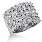 14K Exquisite, 45 Round Brilliant Diamond Anniversary Ring (4.5ctw.)