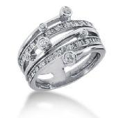 18K Sprinkled Round Brilliant Diamond Anniversary Ring (0.41ctw.)