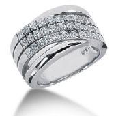 18K Lined Round Brilliant Diamond Anniversary Ring (0.6ctw.)